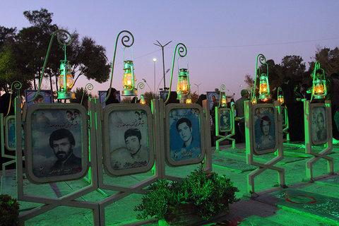 اشک بود و افتخار . روابط عمومی شهرداری اصفهان در گلستان شهدای اصفهان