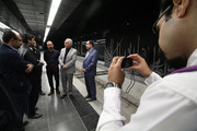 mayor and councilors visiting metro line
