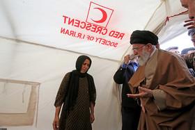 حضور رهبر انقلاب در منطقه زلزله زده سرپل ذهاب