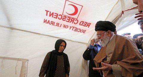 Leader visits earthquake-hit Kermanshah