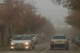 مه گرفتگی و کاهش دید در سمیرم و مسیرهای مواصلاتی+تصاویر
