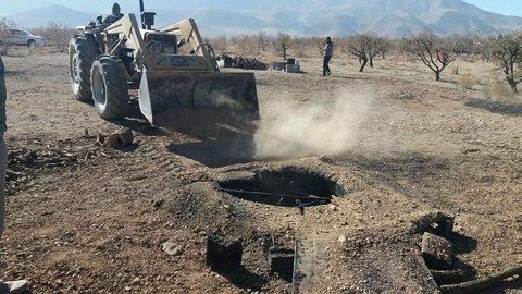 ۴۰ حلقه چاه زغال در نجف آباد تخریب شد