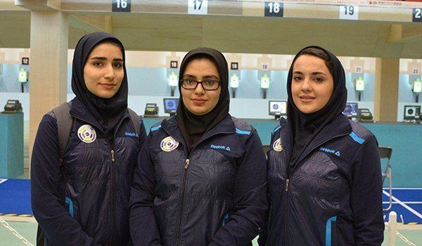 Iran's Female Athletes Snatch Gold Medal in Asian Airgun Championships