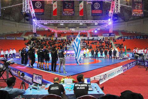 مراسم افتتاحیه مسابقات کشتی