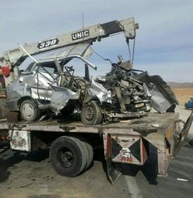 برخورد دو خودرو در محور دامنه - خوانسار سه کشته بر جای گذاشت+عکس