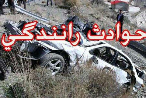 واژگونی سواری تیبا با یک کشته در اصفهان