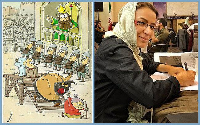 درخشش کارتونیست اصفهانی در یازدهمین دوسالانۀ بین المللی کاریکاتور تهران