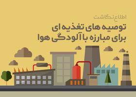 توصیه های تغذیه ای برای مقابله با آلودگی هوا