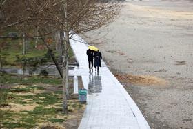 هوای تازه اصفهان با نخستین بارش زمستانی
