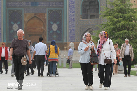 گردشگران خارجی در اصفهان