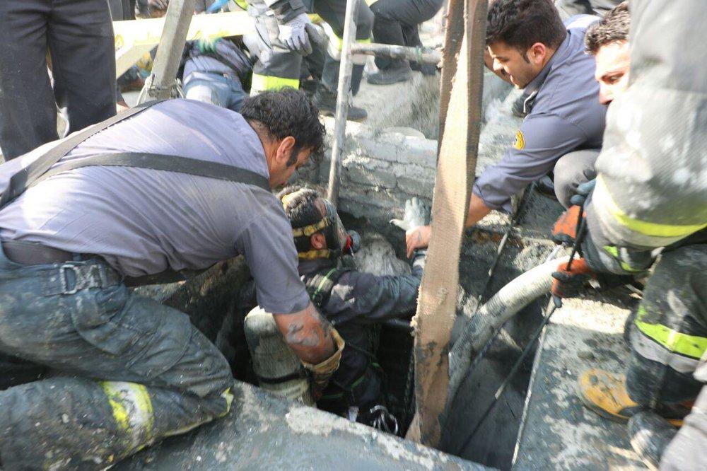 مرگ دلخراش ۴ کارگر در گودال ۲۰ متری