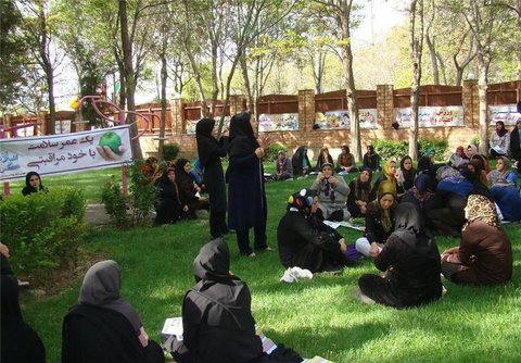 Najvan women garden hosted disabled and specific patients every Tuesday