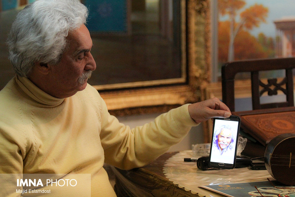 دیدار با استاد نقاشی محمد علی حدت