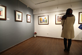 """آثار نقاشی """"محمدعلی حدت"""" در نگارخانه خورشید"""