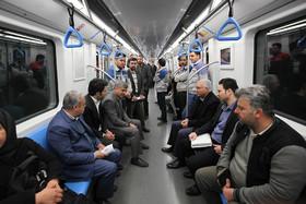 مترو ؛  محل قرار شهردار و خبرنگاران رسانه ها