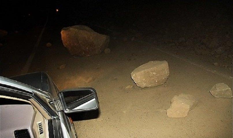 هشدار پلیس راه در خصوص ریزش کوه در سمیرم
