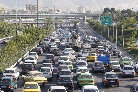 قفل ترافیک در بزرگراه شهید بابایی