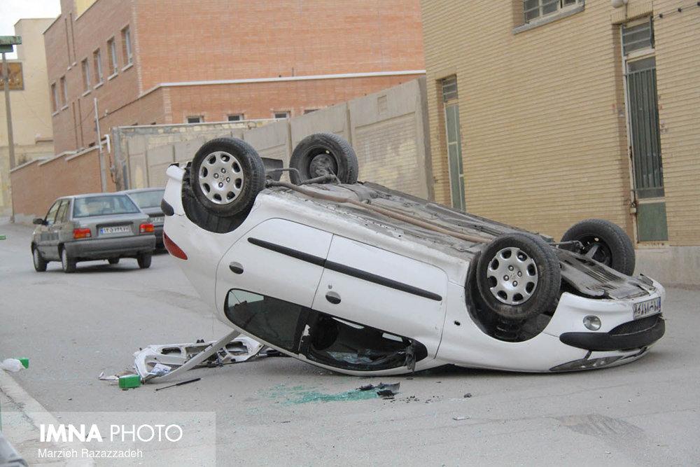 ۳ نفر در تصادف محور سپاهانشهر مصدوم شدند