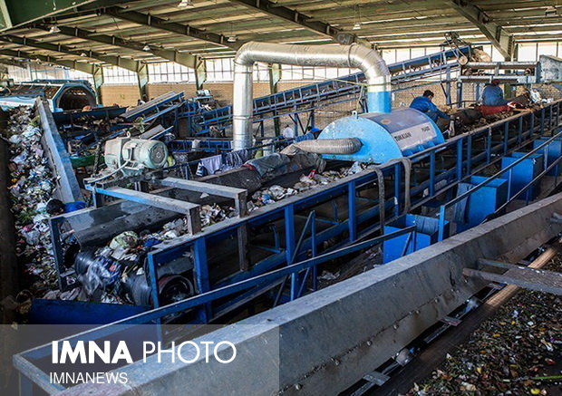 Municipal waste separation plant equipped with modern technologies