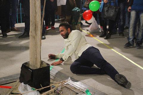 اجرای نمایش خیابانی ترافیکی در شاهرود
