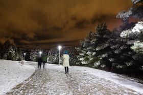 بارش برف زمستانی در اصفهان