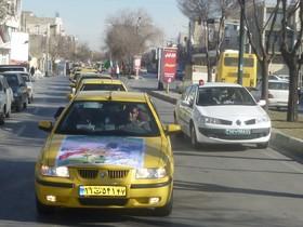 مانور یک هزار دستگاه تاکسی به مناسبت سالروز ورود امام در اصفهان