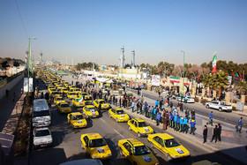 مانور یک هزار دستگاه تاکسی به مناسبت سالروز ورود امام