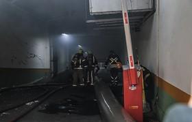 آتشنشانان به طبقات منفی ۳ و ۴ ساختمان وزارت نیرو نفوذ کردند
