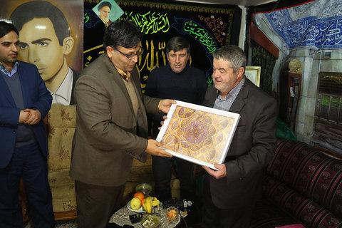 دیدار رییس سازمان فرهنگی با خانواده شهید مرتضی صمدیه لباف - ۱۷ بهمن ۱۳۹۶