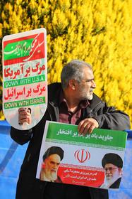 حضور اقشار مختلف مردم در ساعات ابتدایی راهپیمایی 22 بهمن