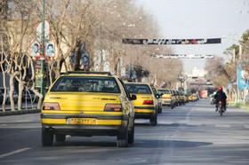 راهپیمایی و رژه تاکسی ها بمناسبت ۲۲بهمن-نجف آباد
