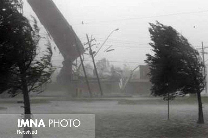 تندباد لحظهای و خیزش گرد و خاک در شرق و مرکز اصفهان
