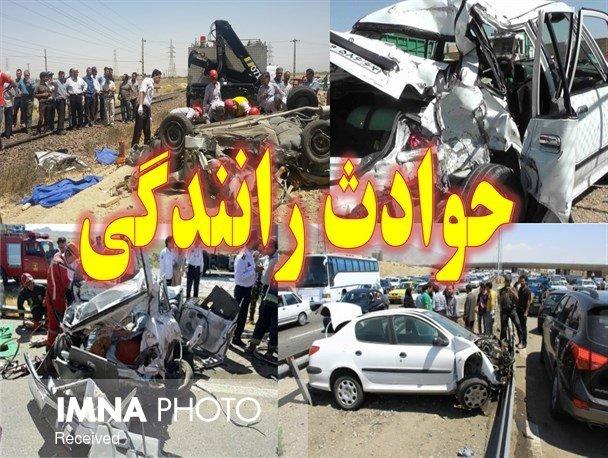 ۱۰ نفر در حادثه واژگونی تیبا در مبارکه مصدوم شدند