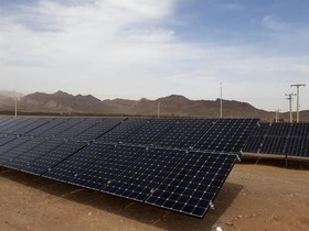 نیروگاه ۱۰۰ کیلو واتی خورشیدی نطنز به بهره برداری رسید