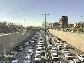 قفل ترافیک در بزرگراه شهید خرازی