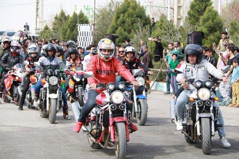 دومین راند مسابقات اسلالوم موتورسیکلت قهرمانی استان برگزار شد