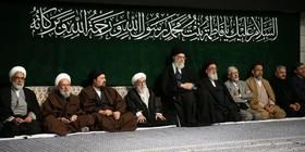 مراسم عزاداری شب شهادت فاطمه زهرا (س) با حضور رهبر معظم انقلاب