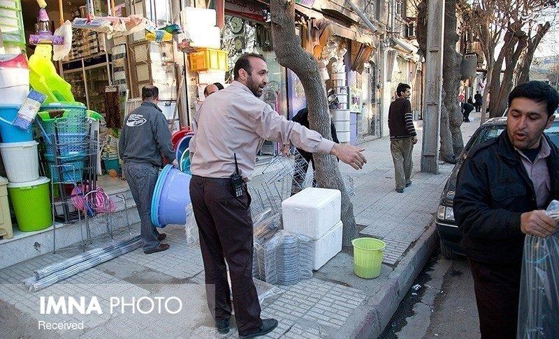 پاکسازی گسترده سد معبر در کرمانشاه