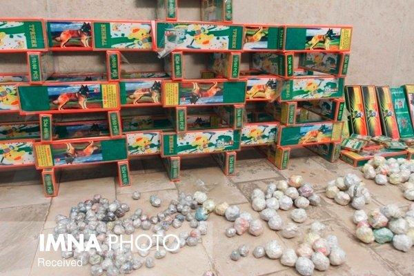 کشف ۴۷ هزار ترقه در عملیات شب گذشته پلیس اصفهان