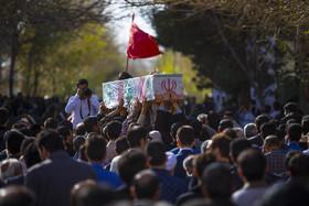 تشییع دو شهید گمنام دفاع مقدس در دانشگاه تربیت معلم