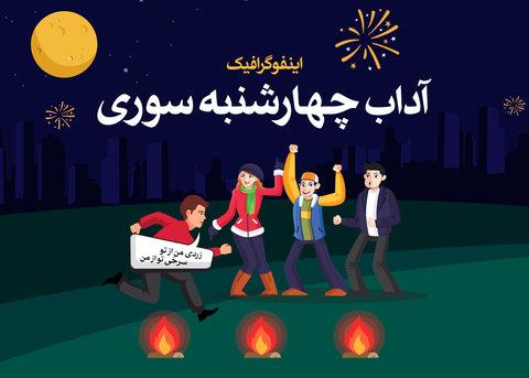 اینفوگرافیک آداب چهارشنبه سوری