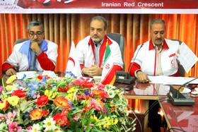 نشست خبری مدیر عامل جمعیت هلال احمر اصفهان
