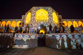اجرای نورپردازی صحنه ایی در پل خواجو