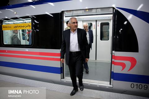 متروسواری شهردار از دروازه دولت تا صفه