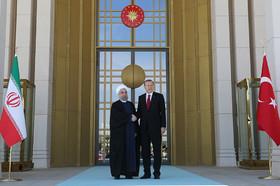 مراسم استقبال رییس جمهور ترکیه از روحانی برگزار شد
