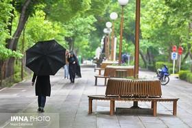 احتمال بارش خفیف باران در اصفهان