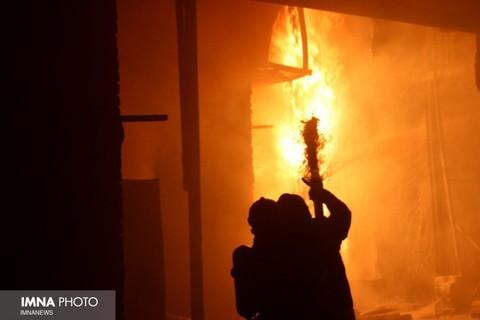 آتشسوزی در ضلع غربی دریاچه چیتگر