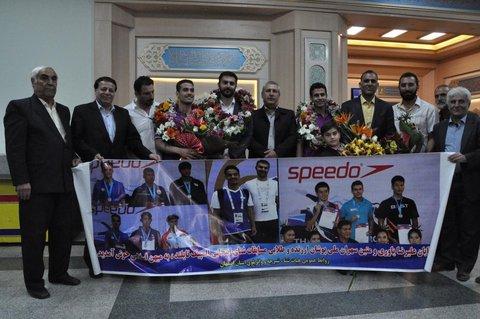 مراسم استقبال از شناگران انتخابی المپیک جوانان