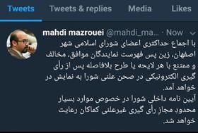 آراء اعضای شورای شهر اصفهان شفاف شد