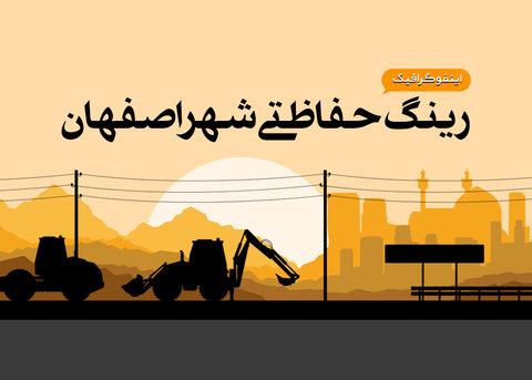 اینفوگرافیک رینگ حفاظتی شهر اصفهان